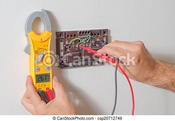 testar, termostato, voltagem - csp20712749