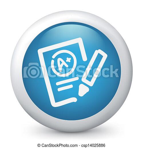 teste, excelente, avaliação, ícone - csp14025886