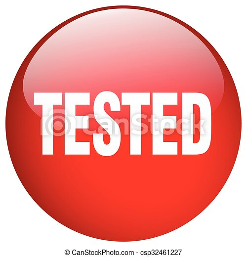 tested red round gel isolated push button - csp32461227