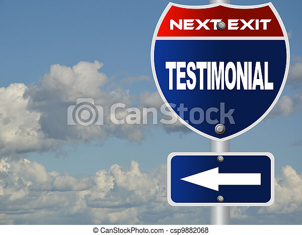 testimonial, panneaux signalisations - csp9882068