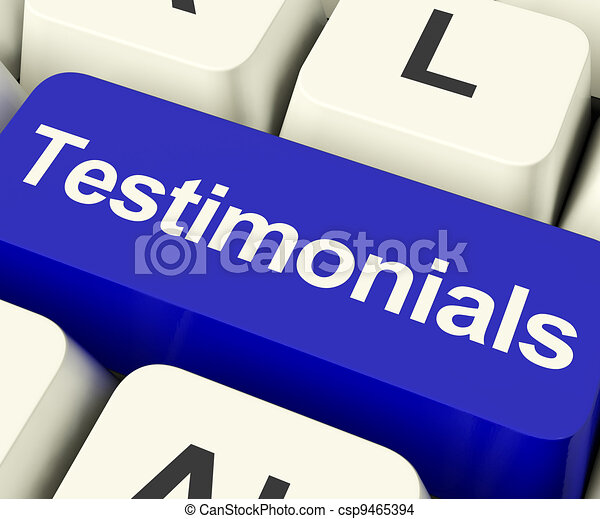 Testimonials Computer Key Shows Recommendations And Tributes Online - csp9465394