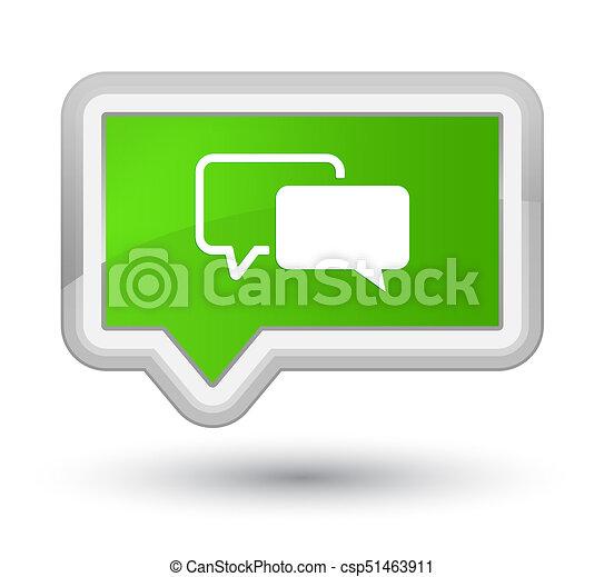Testimonials icon prime soft green banner button - csp51463911
