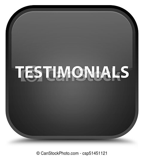 Testimonials special black square button - csp51451121