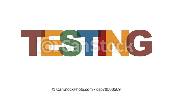 Testing Business Card Text Modern Lettering Poster Color Word Art Slogan Icon Phrases Vector Print Design Elements