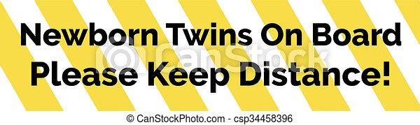 Archivio illustrazioni di testo adesivo giallo neonato - Testo un attimo ancora gemelli diversi ...