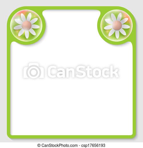 testo, cornice, vettore, fiori - csp17656193