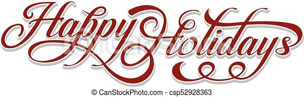 testo, felice, vacanze - csp52928363