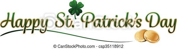 testo, st. giorno patrick - csp35118912
