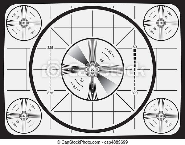testpatroon, televisie - csp4883699
