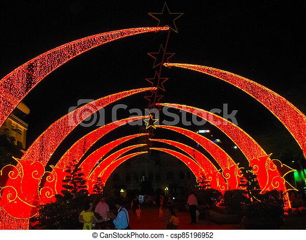 tet, comunismo, año, nuevo, parque, central, saigon, celebraciones, lunar - csp85196952