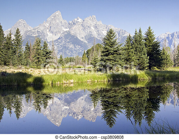 Teton Reflections - csp3809808