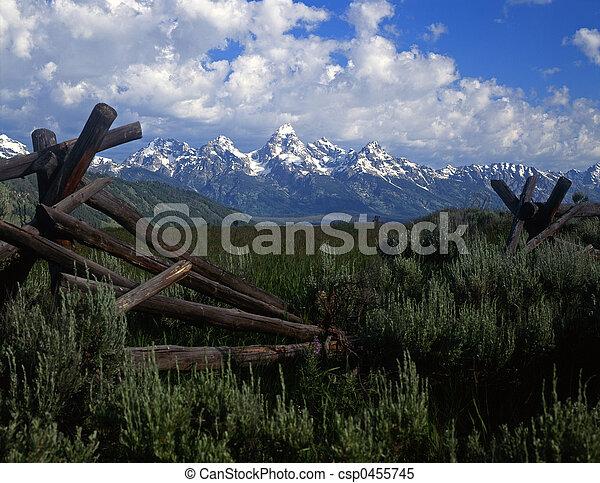 Tetons ⁇ fence número 4 - csp0455745