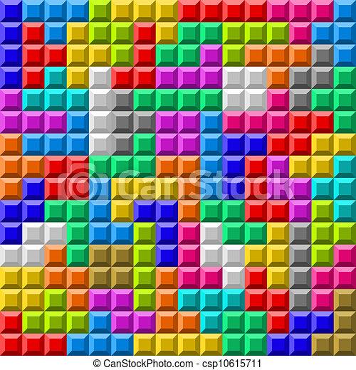 tetris kleurrijke plank achtergrond vector - Tetris Planken