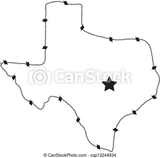 Texas Barb Wire This Is A Vector Of Texas Made Form Barb