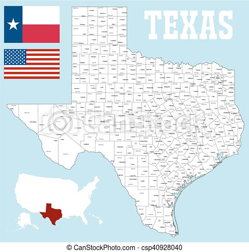 Map Of Texas By County.Texas County Map