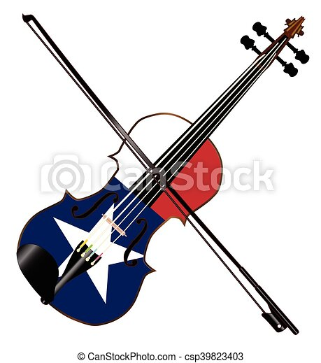 texas fiddle a typical violin with texan flag and bow vector rh canstockphoto com  fiddle clipart free