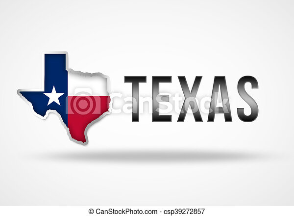 Texas Flag Map 3d Illustration Concept
