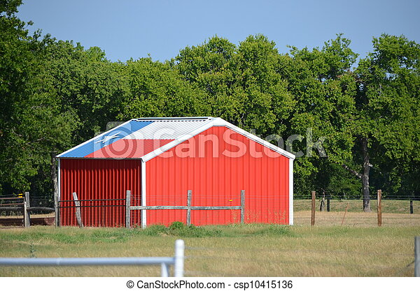 Texas flag shed - csp10415136