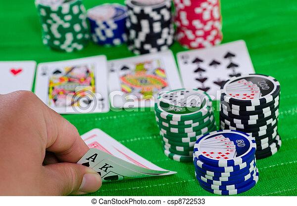 Texas Hold 'Em Big Hand - csp8722533