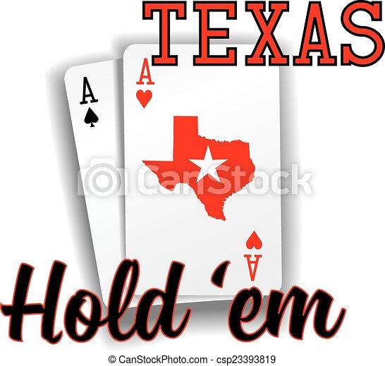 Texas Hold em Poker ace cards - csp23393819