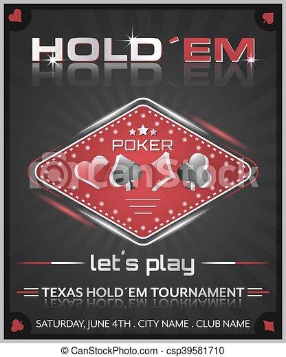 Texas holdem poker tournament poster. - csp39581710