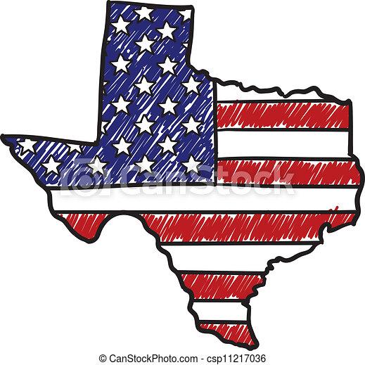 Texas is American sketch - csp11217036