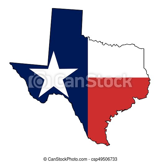 State Of Texas Map Outline.Texas Map Outline And Flag