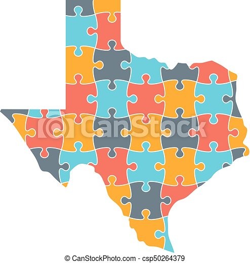 Texas Map Puzzle Solution Infographic - Texas map puzzle