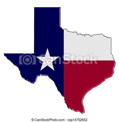 Texas Map - csp14752652