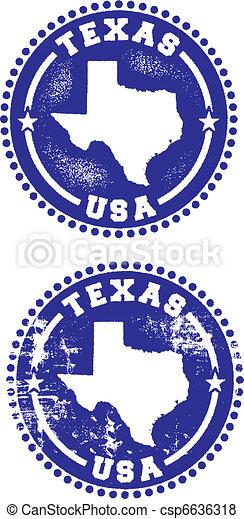 Texas USA Stamps - csp6636318