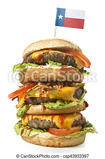 Texas Series Drapeau Hamburger Savoureux Xxl Hamburger Texas