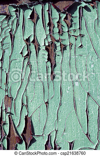 texrure of old cracked wood painted blue - csp21638760