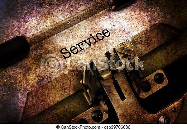 text, årgång, service, skrivmaskin - csp39706686