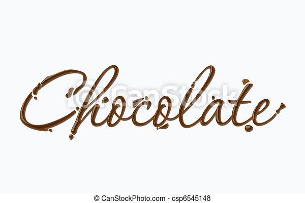 text, čokoláda - csp6545148