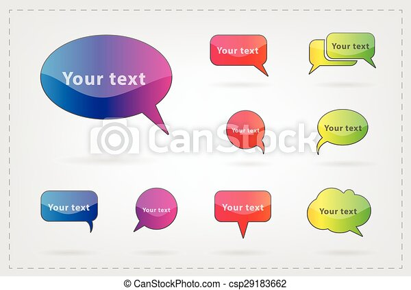 text balloon Vector speech bubble i - csp29183662