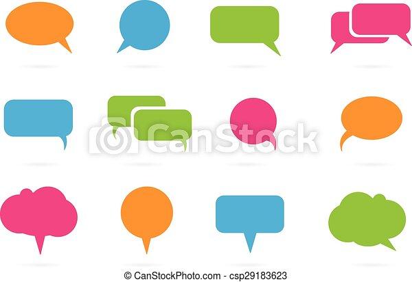 text balloon Vector speech bubble i - csp29183623