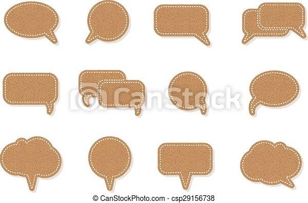 text balloon Vector speech bubble icons - csp29156738
