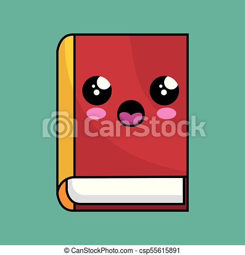 text book school character kawaii
