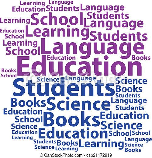 Text cloud. Education wordcloud. Tag concept. Vector illustratio - csp21172919