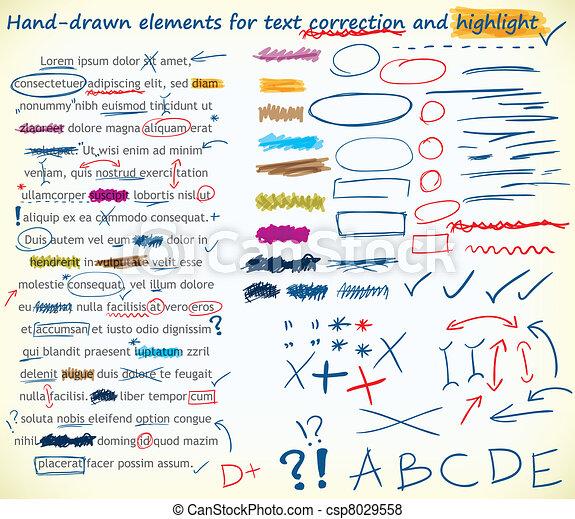 Text correction elements - csp8029558