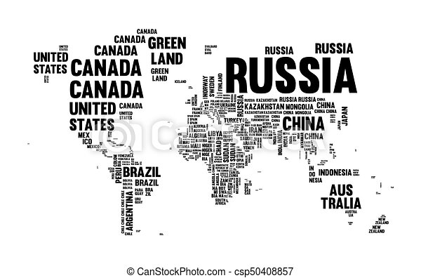 text country name world map typography design csp50408857
