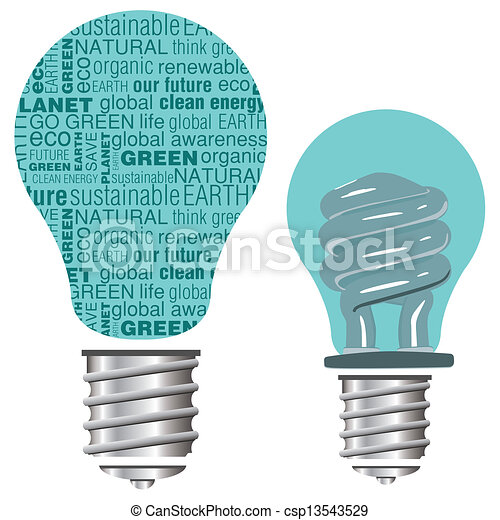 Text Eco Friendly Light Bulb   Csp13543529