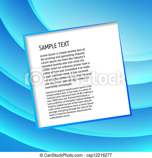 Text field over blue - csp12216277