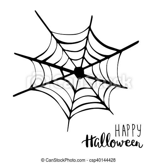 Text., halloween, spinne, hintergrund., vektor, schwarz,... Vektor ...