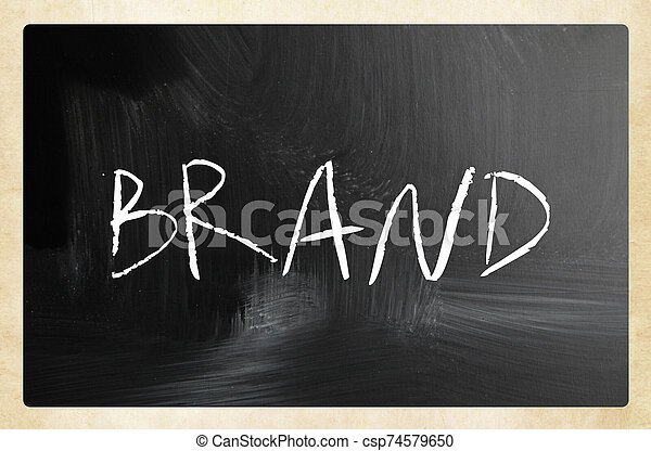 text handwritten with white chalk on a blackboard - csp74579650