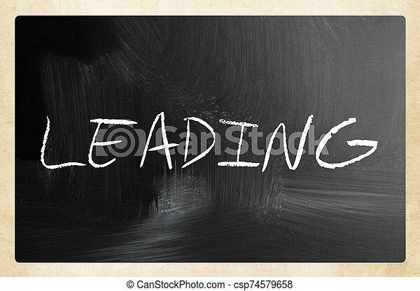text handwritten with white chalk on a blackboard - csp74579658