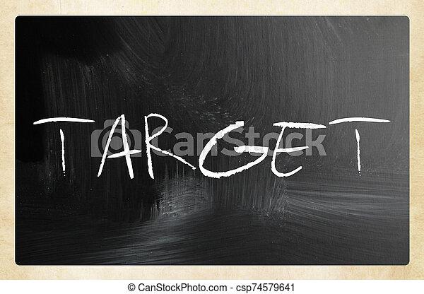 text handwritten with white chalk on a blackboard - csp74579641