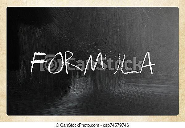 text handwritten with white chalk on a blackboard - csp74579746