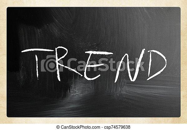 text handwritten with white chalk on a blackboard - csp74579638