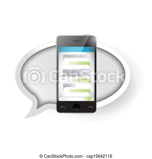 text message communication on a smartphone. - csp15642116
